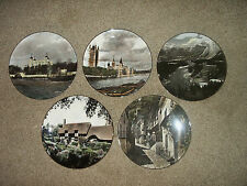 5 Royal Doulton Collectible Plates London Hathaway's Cottage Clovelly Banff Park