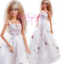 ON Sale White wedding Gown for BARBIE Doll Dress EARLY EVENING SPLENDOR freeShip