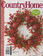 COUNTRY HOME Magazine 2012, Holiday 2012 Issue.