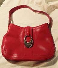 Vintage Red BVLGARI Leather Shoulder Bag Purse