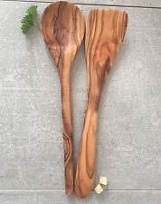 Cooking Utensil Set 2pc Olive Wood / Spatula, Spoon, handcrafted