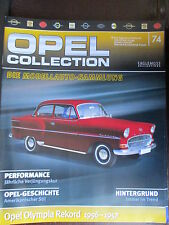 FASCICULE ALLEMAND 74  OPEL COLLECTION OLYMPIA REKORD 1956-1957