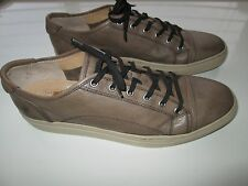 """FRYE JUSTIN LOW LACE Full Grain Leather Men Sneakers Shoes PUTTY 11M (11"""" feet)"""