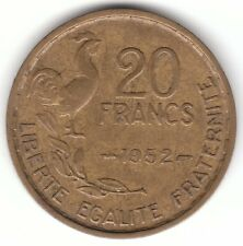 1952 France 20 Francs Aluminium Bronze Coin - Rooster