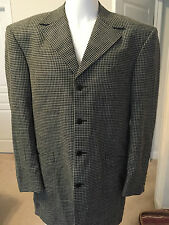 RARE SUIT JACKET TAILORED FOR CALBERT CHEANEY CHECKERED BLACK GRAY BULLETS