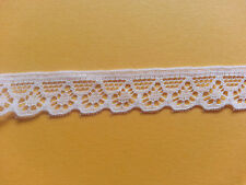 2 Metres Nottingham Lace Trim 10 mm Width Choose Either Black White Pink Ivory