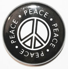 "1"" (25mm) 'Peace Symbol' Button Badge Pin - High Quality - MADE IN UK"