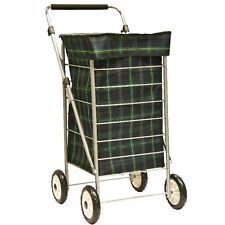 Shopping Trolley 4 Wheeled Cart Bag Lightweight Adjustable Handle New