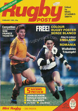 RUGBY POST Feb 1985 ENGLAND MAGAZINE