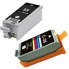 2-PK ink cartridges PGI-35 CL-I36 for Canon PIXMA ip100 mini260 mini320 Printer