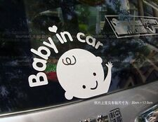 Reflective Baby In Car Waving Decal Sticker Hyundai I10 Grand Xcent i20 Accent