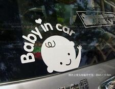 Reflective Baby In Car Waving Decal Sticker Honda City Amaze Brio Accord Civic