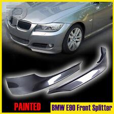 Painted #A22 BMW E90 3-Ser 4D LCI Facelift OE-Look Front Splitter Lip Bumper 11