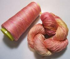 100% Pure Mulberry Queen Silk Yarn 50 gram 3Ply Lace Weight Popsicle QS003 Lot G