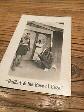 Old  Postcard Halibut & The Rose Of Gaza