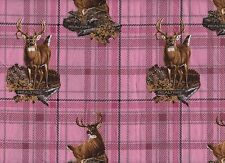 Fabric Pink with Deer
