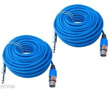 2 50 ft foot feet 1/4 TRS balanced to 3pin XLR female microphone mic cable cord