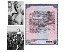 Marilyn Monroe DEATH CERTIFICATE + 2 Stunning PHOTOS of the goddess, Died 1962