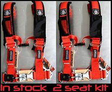 pro armor seat harness kit polaris rzr s  800 900 900 xp 1000 xp seat belts red
