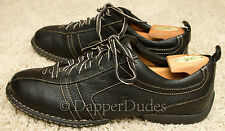 Mint! BORN Casual Shoes-Men's 11.5-Black Stamped Leather-Comfortable!