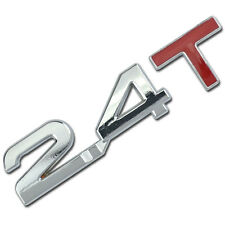 CHROME/RED 2.4 T METAL TURBO ENGINE RACE MOTOR SWAP EMBLEM BADGE DECAL FOR TRUNK