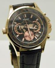 Sekonda 1024 Gents Rose Gold Plated World Time Orologio Cronografo RRP £ 89.99