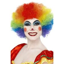 Smiffy Unisex Rainbow Clown Funky Wig Adult Fancy Dress Costume Comic Relief