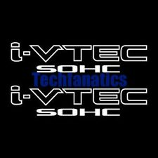 2Pcs WHITE I-VTEC SOHC STICKER DECAL EMBLEM CIVIC S2000 ACCORD JDM IMPORT ILLEST