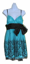 Hailey Logan By Adrianna Papell Juniors Prom DRESS Turquoise Size 9/10 $120 nwt
