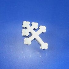 Cross Of Lorraine Tie Tack/Pin Solid Sterling (#5)