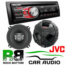 "JVC CD MP3 CAR STEREO & 5.25"" 13cm 2 Way 440 Watts Car & Van Coaxial Speakers"