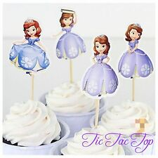12pcs SOFIA The First cupcake toppers Girl Princess. jelly Cup *Superb Quality*