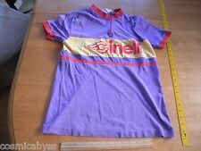 Ginelli Cycles Cycling shirt jersey Mark Elliot L 60/40 cotton poly VINTAGE
