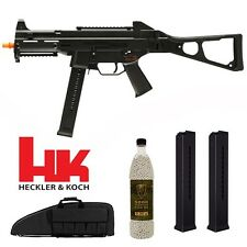 Elite Force HK UMP SMG Electric Airsoft Rifle w/x2 Extra Mags 5K BBs& Rifle Case