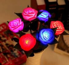 Rose Flower LED Light Lamp Candle Tea Light Home Wedding Garden Party Xmas Decor