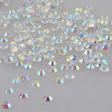 1000pcs Clear AB Rhinestone Decoration Crystal Glitter Nail Art 4mm