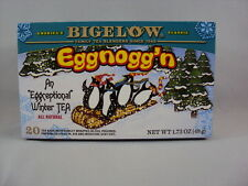"BIGELOW ""EGGNOGG'N"" WINTER TEA, 1 BOX, ALL NATURAL, GLUTEN-FREE - NEW"