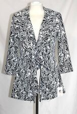 Calvin Klein - 2 (XS) - NWT$149 - B&W Animal Print Fly-Away Knit Cardigan Jacket