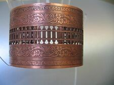 Solid Wide Copper Vintage Cuff Bracelet