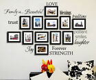 DIY Mural Removable Love Photo Art Quote Decor Home Decals Vinyl Wall Sticker