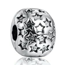 Popular Stars Style Clip European Bead 925 Sterling Silver Charms Fit Bracelet