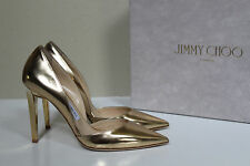 sz 6 / 36 Jimmy Choo Darylin Gold Metallic Leather Pointed Toe Pump Shoes