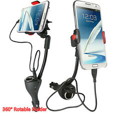 360° Rotable Vehicle Mobile Phone Holder Bracket & 2.1A Dual USB Charger Adapter
