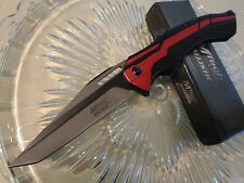 Mtech Ballistic Assisted Open Red Streamline Tanto Pocket Knife MT-A934BR New