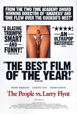 THE PEOPLE VS LARRY FLYNT (1996) ORIGINAL MOVIE POSTER - REVIEW VERSION B ROLLED
