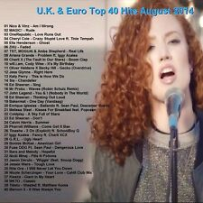 Promo Video DVD, UK & Euro Top 40 Hits, August 2014! NEW VIDEOS! Only on Ebay!!
