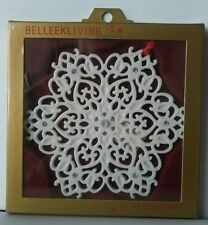 BELLEEK Living - Handcrafted Irish Porcelain  - Christmas Decoration - Snowflake