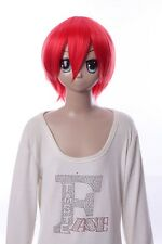 W-10-F2 Rot red 33cm COSPLAY Perücke WIG Perruque Haare Hair Anime Manga