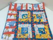 """Dr Seuss Cat In Hat Grinch Hand Made Quilt Horton Green Eggs And Ham 46"""""""