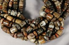"PETRIFIED OPALIZED WOOD JASPER SW BEADS 18X14MM BARREL 7X14MM RONDELLE 16"" STR"